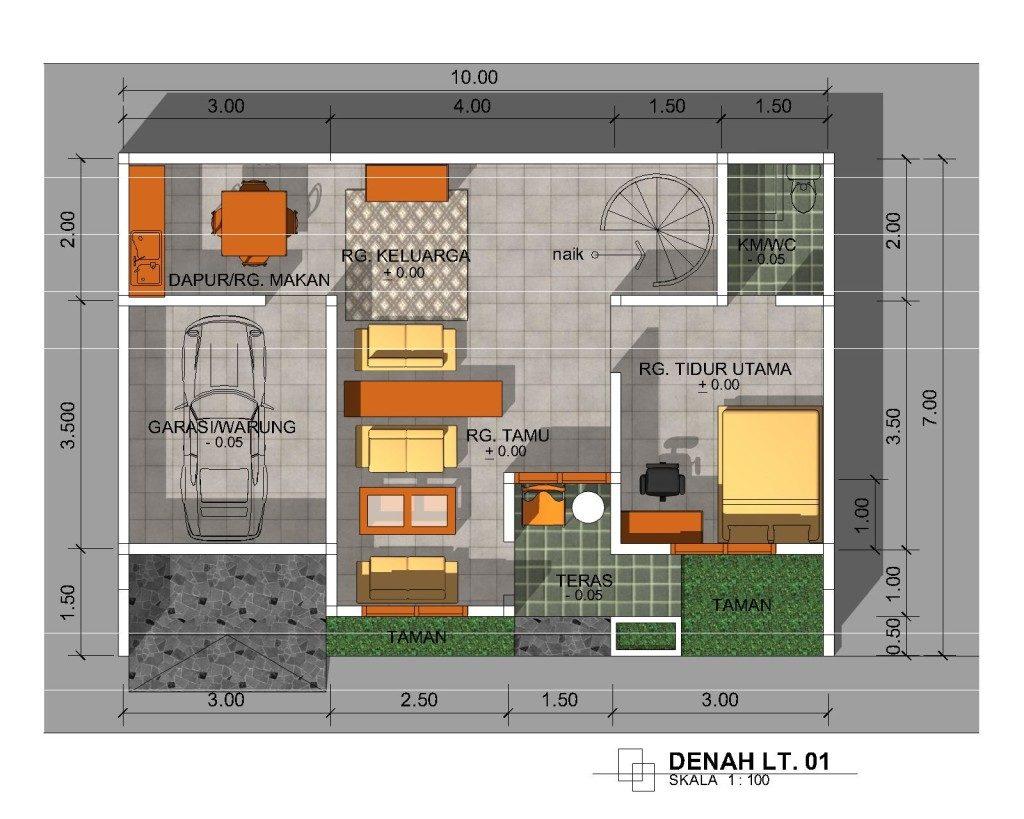 Denah rumah 1024x819 » Aneka Model dan Desain Rumah Minimalis