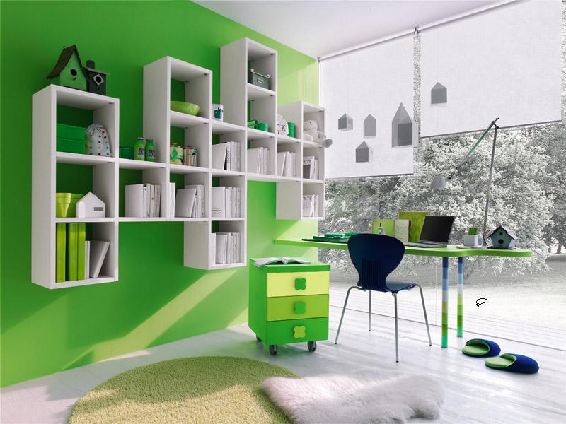 Desain Ruang Belajar Anak Warna Hijau » Inspirasi Desain Ruang Kerja Dan Belajar untuk Rumah Anda