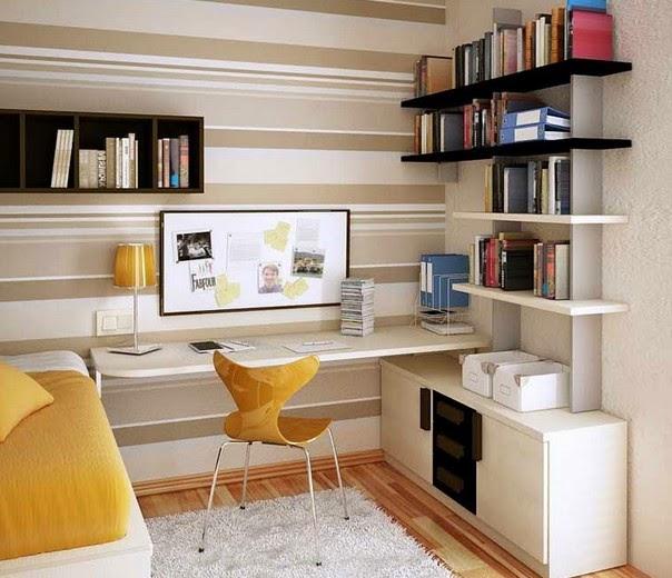 Desain Ruang Kerja Pribadi Rapi » Inspirasi Desain Ruang Kerja Dan Belajar untuk Rumah Anda