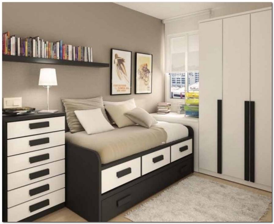 Desain kamar tidur ruang kecil1 » Desain Kamar Tidur Elegan pada Ruangan Kecil