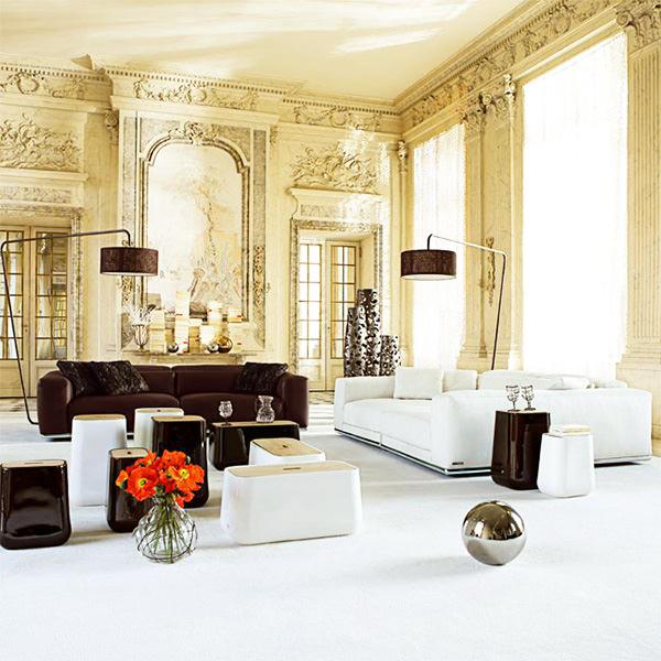 Ruang Tamu Mewah Rumah Minimalis dengan Dinding Klasik » Desain Ruang Tamu Paling Modern Dan Mewah