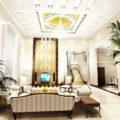 Ruang Tamu Mewah Rumah Minimalis dengan Lampu Mewah 120x120 » Desain Ruang Tamu Paling Modern Dan Mewah