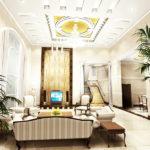 Ruang Tamu Mewah Rumah Minimalis dengan Lampu Mewah 150x150 - Ide Model Desain Garasi Rumah