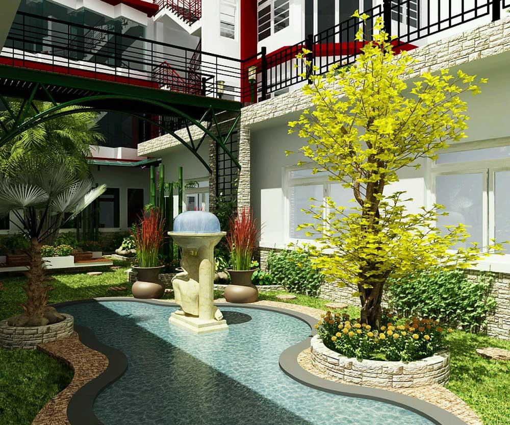 bangun kolam di tengah taman agar terasa segar maksimal » Inspirasi Desain Taman yang Akan Membuat Hati dan Pikiran Nyaman