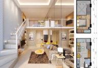desain denah apartemen 2 bedroom 200x135 » Tips Desain Interior Apartemen Minimalis dan Modern