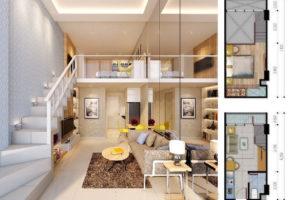 desain denah apartemen 2 bedroom 300x200 - Tips Desain Interior Apartemen Minimalis dan Modern