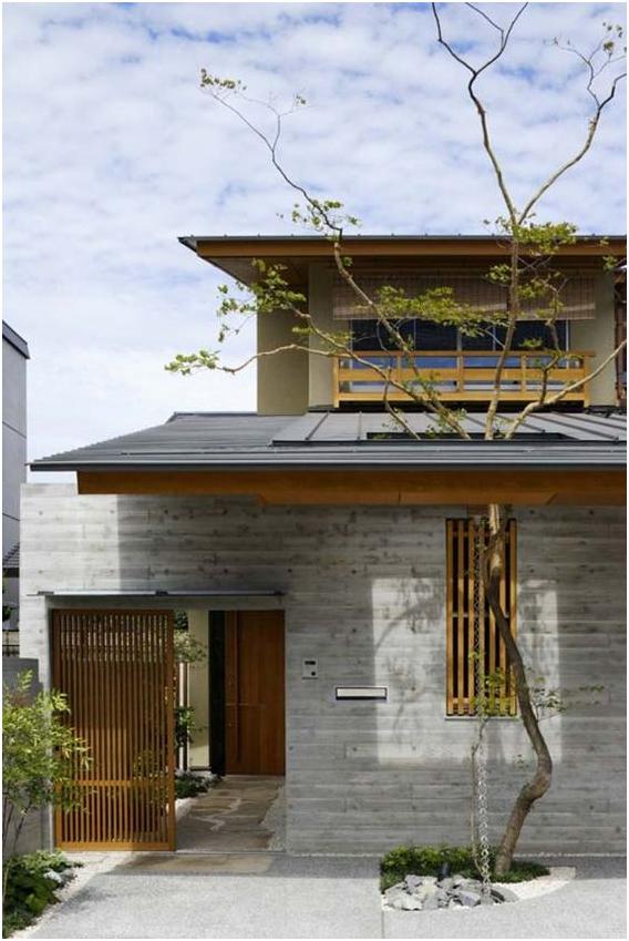 desain gerbang utama pada rumah minimalis modern gaya jepang » Kenali Konsep Desain Rumah Minimalis Modern Bergaya Jepang