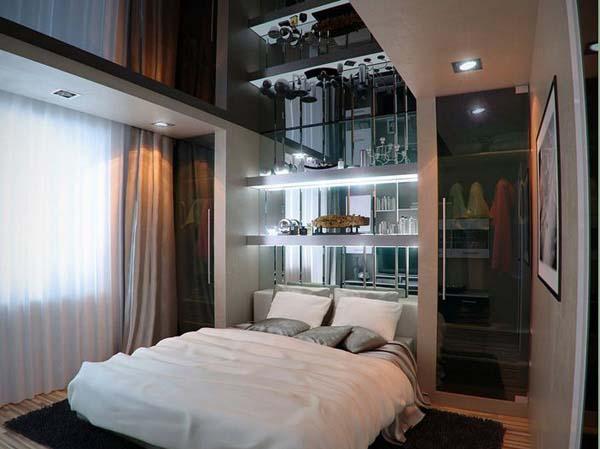 desain kamar tidur ruang kecil3 » Desain Kamar Tidur Elegan pada Ruangan Kecil