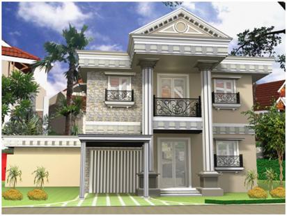 desain tiang pilar pada rumah 2 lt mewah minimalis gaya mediterania » Pahami Desain Rumah Mewah Minimalis 2 Lantai Gaya Mediterania