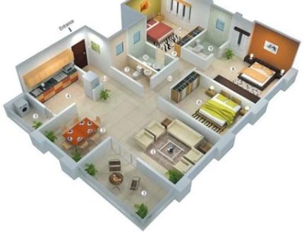 g4 » Fungsi Sketsa Rumah Minimalis 3 Kamar Ketika Membangun Rumah