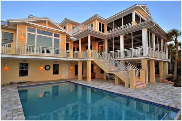 hunian mewah 2 lt dengan kolam renang depan samping » Pilihan Desain Rumah Mewah 2 Lantai dengan Kolam Renang