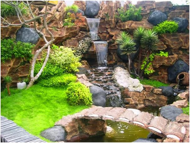kolam ikan pada taman belakang rumah » Kumpulan Ide Kreatif Mendekorasi Taman Belakang Rumah