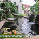 model desain kolam ikan hias minimalis 150x150 - Inspirasi Desain Rumah Tingkat 2 Lantai Bergaya Eropa