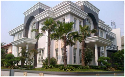 warna netral untuk eksterior pada rumah 2 lt mewah minimalis gaya mediterania » Pahami Desain Rumah Mewah Minimalis 2 Lantai Gaya Mediterania